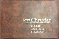 1977 Chrysler Color Upholstery Dealer Album LeBaron Cordoba Newport New Yorker
