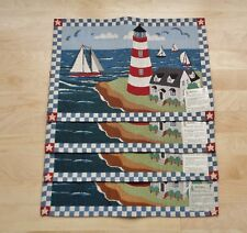 New listing Park B Smith Nautical Seaside Ocean Lighthouse Sailboat Tapestry Placemats Set 4