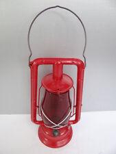 Antique Old Metal Red Glass Dietz Monarch Fitzall Loc-Nob Tubular Barn Lantern