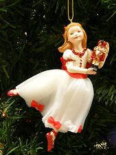 KURT ADLER DELUXE NUTCRACKER BALLET CLARA HOLDING NUTCRACKER CHRISTMAS ORNAMENT