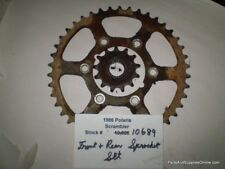 1986 86 Polaris Scrambler 250 Front & Rear Sprocket Set