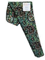 LuLaRoe OS Leggings #3354 - Paisley with Black Orange & Green - One Size