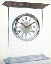 acctim thornton 36587 polished metal top and base mantel clock