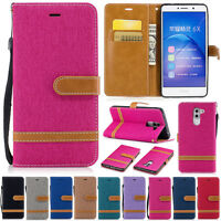 Jeans Wallet Leather Flip Case Cover For Huawei P20 Honor 9 Lite Y6 2018 Y7 2019
