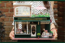 Christmas Creative Gift Miniature Diy House Dollhouse French Coffee Journey