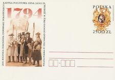 Poland prepaid postcard (Cp 1069) KOSCIUSZKO