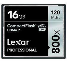 Lexar 16GB CompactFlash Professional 800x UDMA 7 CF Pro VPG-20 Memory Card - New