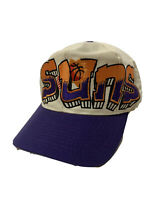 Phoenix Suns Graffiti Print Snapback Hat Vintage 90s NBA White Purple Orange