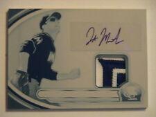 2013 Bowman Platinum Jake Marisnick Miami Marlins Auto 2 Color Relic 1/1