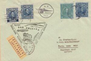 Venezuela colorful Zeppelin cover bogus forgery fake counterfeit