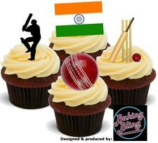 Novelty Cricket India Test Match Series Mix Edible Cake Toppers Decorations Game