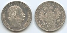 G5750 - Austria 1 Florin 1891 Vienna KM#2222 XF Silver Franz Joseph I.1848-1916