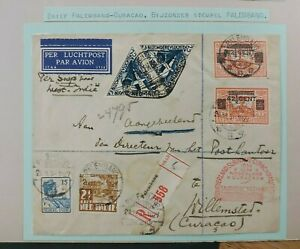 1934 REGISTERED COVER PALEMBANG CURACAO NEDERLAND DUTCH INDIES B111.6 $0.99