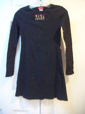 ESPRIT KIDS - Girls Size XL - BLACK EMBROIDERED LS SWEATER DRESS