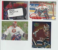 Patrick Roy 1993-94 STADIUM CLUB FINEST INSERT & DONRUSS MASKED MARVEL INSERT