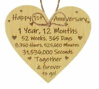 1st 2nd 5th 10th 20th 25th 50th Wedding Anniversary Husband Wife Mr & Mrs Gift