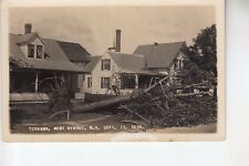 Putnam Real Photo Postcard Uprooted Tree in front from Tornado West Rindge  NH