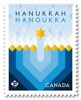 HANUKKAH = DIE CUT to shape BKLT stamp from QP = MNH-VF Canada 2017 #3051i