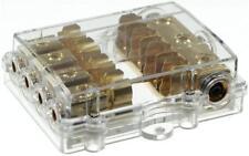 4-fach AGU Glas-Sicherungsverteiler Verteiler Stromverteilerblock Gold #aguv052