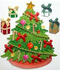 Classic Christmas Tree Garland Bows Presents Jolee's 3D Sticker