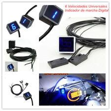 Digital Indicador de Marcha Para Moto Azul LED Pantalla Sensor Palanca de cambio