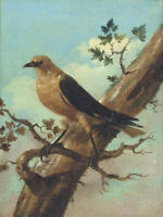 "high quality oil painting handpainted on canvas ""a bird on a tree"""