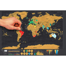 GD World Map Deluxe Travel Scratch Poster Creative Gift Personalized Journal Map