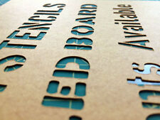 CUSTOM LETTER STENCIL ON HEAVY OILED MANILLA BOARD - 3 FONTS AVAILABLE MILITARY