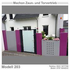 Modell 203 - Pforte, Tür, Zaun,Gartentor, Eisentor,Tor!