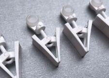20 Stück Rollringe mit Klammer 8mm für Gardinen Schiene Halter Laufrolle Deko