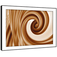 AB956 Retro Brown Funky Modern Abstract Framed Wall Art Large Picture Prints