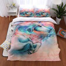 Dream Unicorn Kids Bedding Sets Duvet Cover Quilt Cover Pillowcase Animal Print