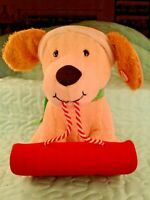 Hallmark Christmas Animated Plush Dog on Sled, Barks & Pants, Sound & Motion