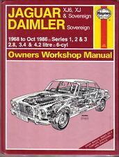 Jaguar Daimler XJ6 XJ & Daimler Sovereign Series 1 2 & 3 1968-86 Workshop Manual