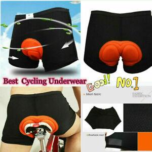 Men Women 3D Padded Coolmax Bicycle Cycling Mountain Bike Short Underwear UK