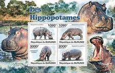 Hippopotamus African fauna Burundi s/s Sc.826 MNH #BUR11218b