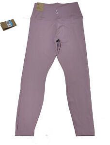 Nike Women's 7/8 High Rise Dri-Fit Leggings Pink Yoga Hidden Pocket