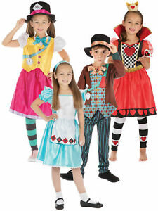 Boys Girls Mad Hatter Alice In Wonderland Costume Kids Fancy Dress Book Week Day