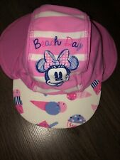 DISNEY Baby Girls Minnie Mouse Sun Hat Beach Pool 18-24 M Size 3 Used Once