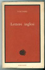VOLTAIRE LETTERE INGLESI BORINGHIERI 1968 ENCICLOPEDIA AUTORI CLASSICI FILOSOFIA