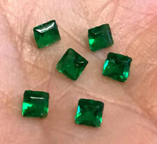 6 x Smaragd - Carre facettiert  1,00Ct  Sambia