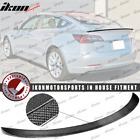 Fits 17-22 Tesla Model 3 IKON Style Trunk Spoiler Wing - Real Carbon Fiber