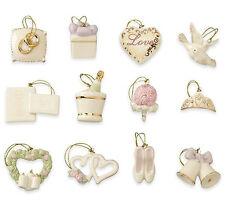 Lenox Wedding Ornaments Set of 12 Miniature Hearts Bells New Boxed (No Tree)