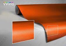 Vvivid Xpo Orange Dry Carbon Fiber Car Wrap Vinyl 2'' x 4'' sample