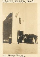 c1920 Trimmed RPPC Postcard image; New Adobe Church, Santa Clara NM Grant County
