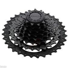 Cassettes y piñones negro acero para bicicletas