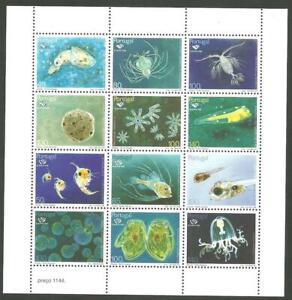 Portugal 1998 - EXPO'98, Oceans, Plâncton 12 stamps mini sheet MNH