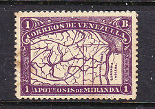 Venezuala postage stamps - 1896 1 Boliva MINT Hinged Cat £35.0 - collection odd