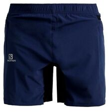 Salomon Fastwing Running Shorts Mens XL Twinskin Blue/Orange