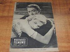 Wiadomości Filmowe 18/1960 polish magazine Gregory Peck Lauren Bacall M Dietrich
